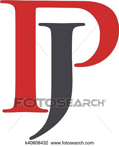 clipart of letter p and j logo vector k40808432 search clip art rh fotosearch com letter j clipart jpeg letter j clipart jpeg