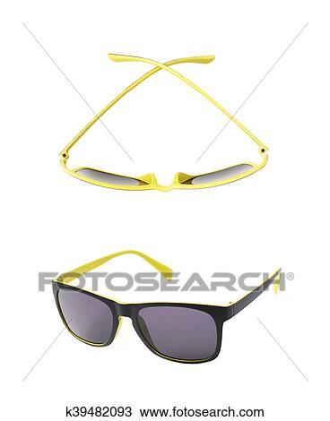 Desenho - par, de, plástico, óculos de sol, isolado k39482093 ... 7b472fd176