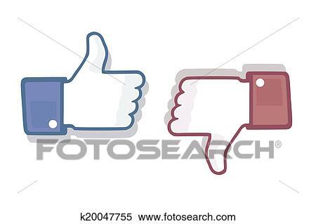 Stock Illustration Of Thumb Up Like Dislike Symbol K20047755