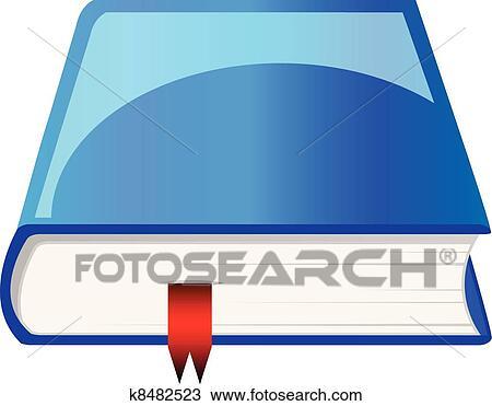 Vecteur Livre Bleu A Signet Clipart