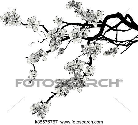 Branche De Cerisier clipart - branche, de, cerisier k35576767 - recherchez des cliparts