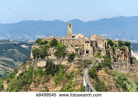Civita Di Bagnoregio Italy Stock Photography K8499545 Fotosearch