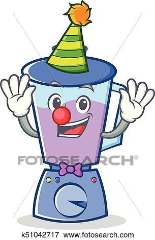 Clown Blender Character Cartoon Style Clip Art K51042717 Fotosearch