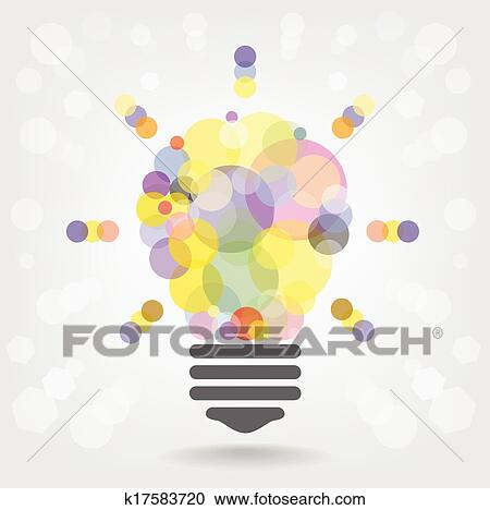 Clipart Of Creative Light Bulb Idea Concept Background Design