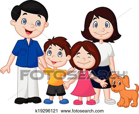 clipart of happy family cartoon k19296121 search clip art rh fotosearch com happy family clipart images happy family clipart free