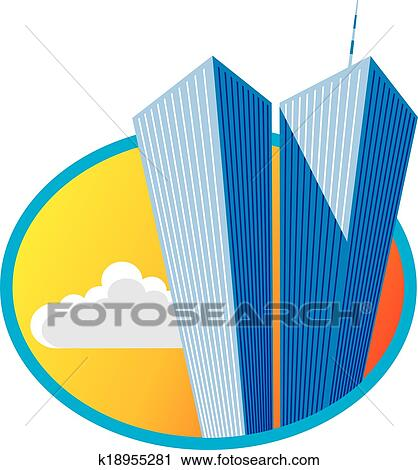 twin towers clipart rh fotosearch com twin towers clip art free petronas twin towers clipart