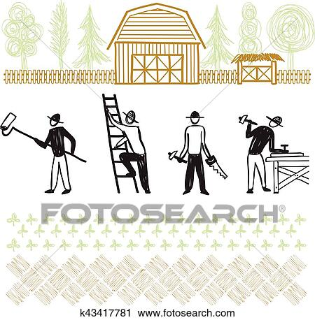 Am lioration maison services reconstruction travaux clipart k43417781 fotosearch - Abonnement maison et travaux ...