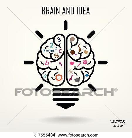 Clipart Of Creative Brain Symbolcreativity Signbusiness Symbol