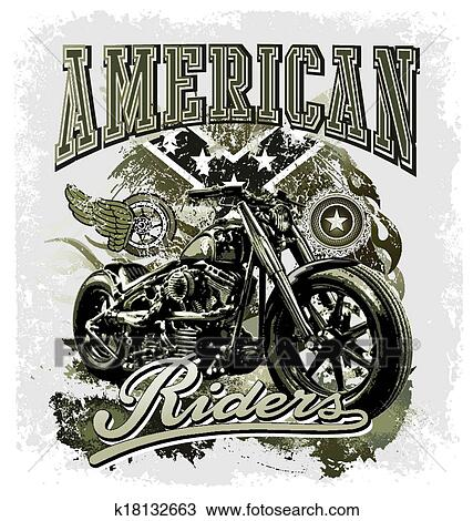 Hot Rod American Riders Clipart