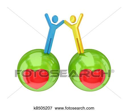 Stock Illustration Of Togetherness Concept K8505207 Search Eps