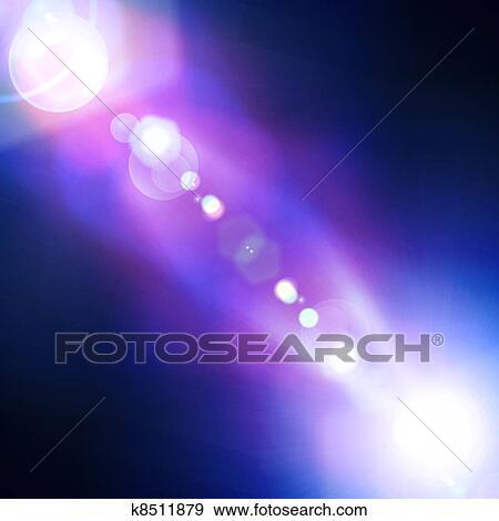 Stock Illustration Of Blue Light Beam K8511879