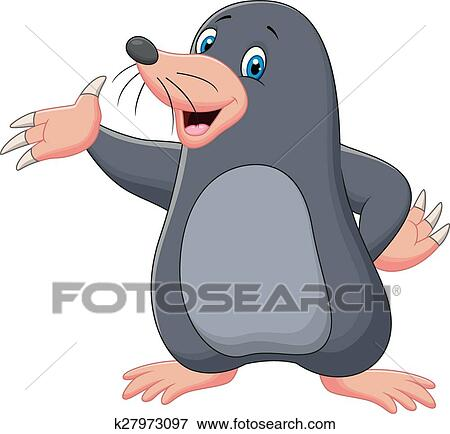 Cartone animato talpa ondeggiare clip art k27973097 fotosearch