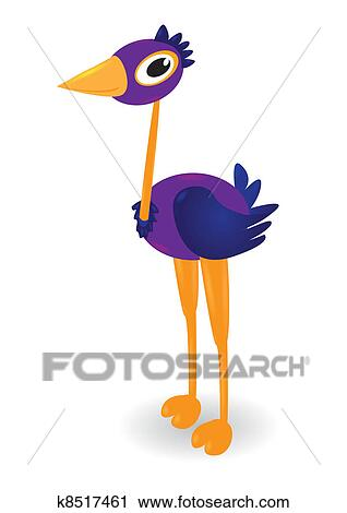 clipart of cartoon ostrich k8517461 search clip art illustration rh fotosearch com ostrich clipart black and white ostrich clipart images