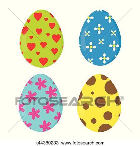 nice easter eggs clipart k44380233