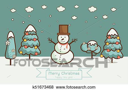 Paysage hiver noel dessin - Dessiner un paysage d hiver ...