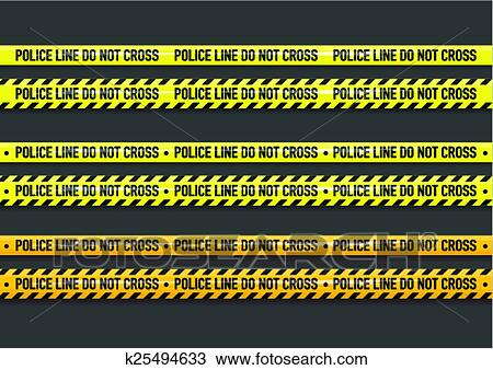 clipart of vector police line do not cross tape k25494633 search