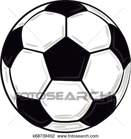 a white & black soccer ball vector or color illustration clipart |  k68739452 | fotosearch  fotosearch