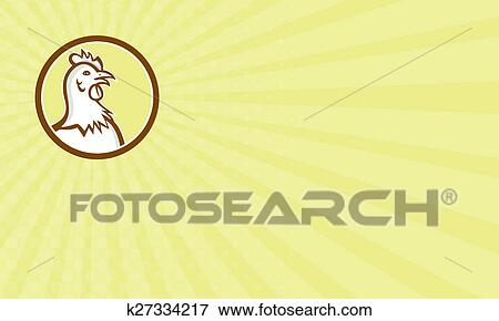 Stock illustration of business card chicken hen head side circle stock illustration business card chicken hen head side circle cartoon fotosearch search eps colourmoves