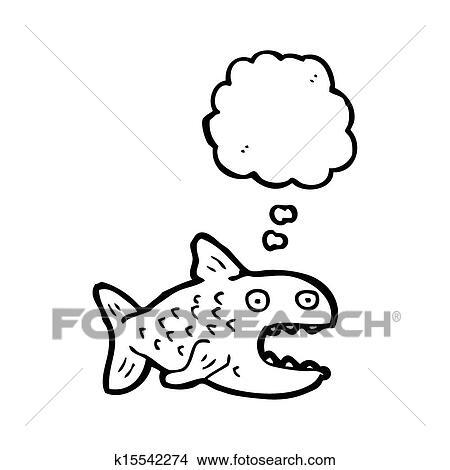 Dibujos - caricatura, piraña k15542274 - Buscar Clip Art ...