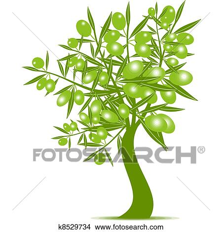 Green Olive Tree Clipart K8529734 Fotosearch