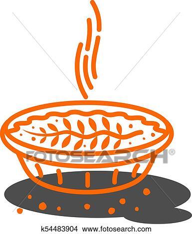 Meat pie, roll, quiche illustration Clipart | k54483904 ...