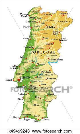 Portugal Mapa Reducao Desenho K49459243 Fotosearch