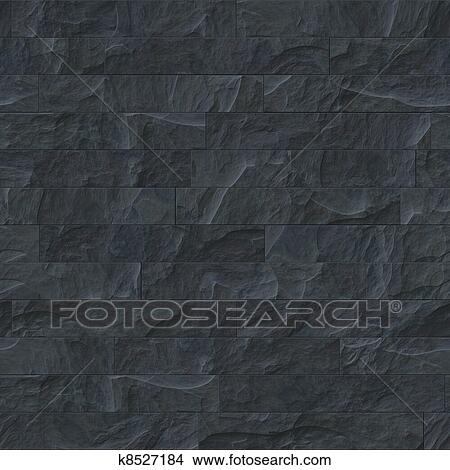 . Seamless black stone texture Picture