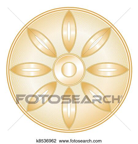 Clipart Buddhismus Symbol K8536962 Suche Clip Art Illustration