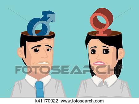Clipart Difference Entre Homme Femme K41170022 Recherchez Des