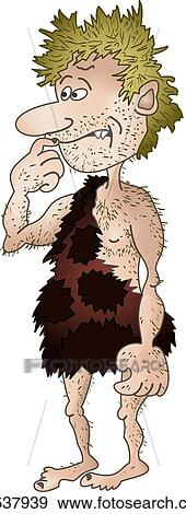 Clipart Homme Prehistorique Isole K8537939 Recherchez Des