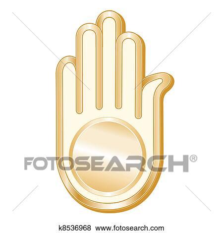 Clip Art Of Jain Symbol K8536968 Search Clipart Illustration