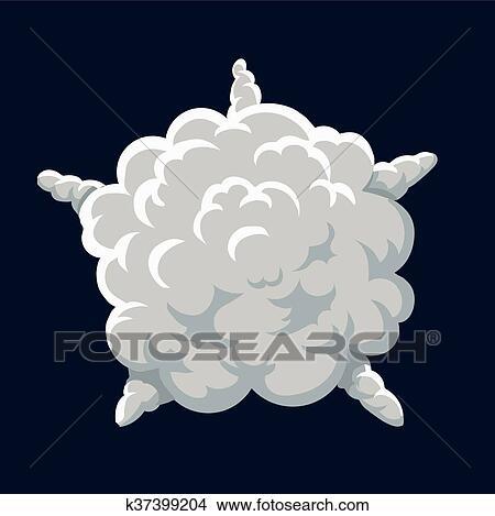Clipart of Cartoon smoke Explosion Frame. Vector k37399204 - Search ...
