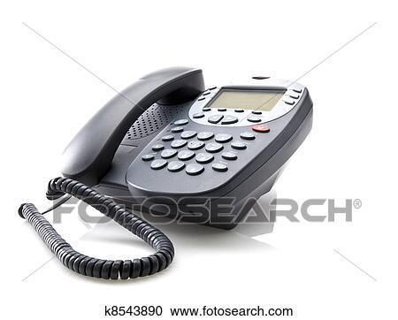 Ufficio Bianco E Grigio : Archivio fotografico grigio telefono ufficio isolato su uno