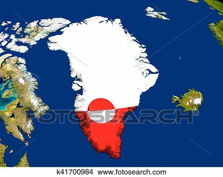 Disegni Groenlandia Con Bandiera Su Terra K41700984 Cerca