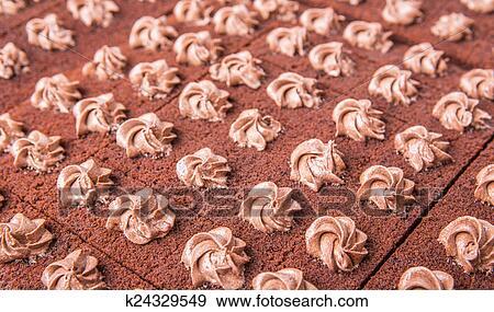 Stock Fotograf Kakau Flacher Kuchen K24329549 Suche Stock