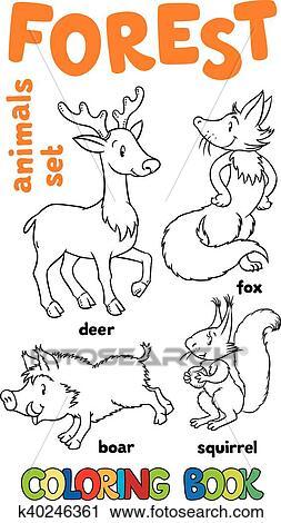 Clipart Wald Tiere Ausmalbilder K40246361 Suche Clip Art