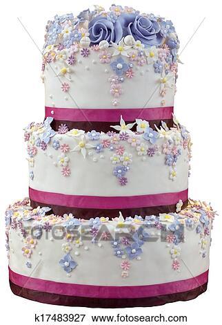 Hochzeit Kuchen Freisteller Stock Foto K17483927 Fotosearch