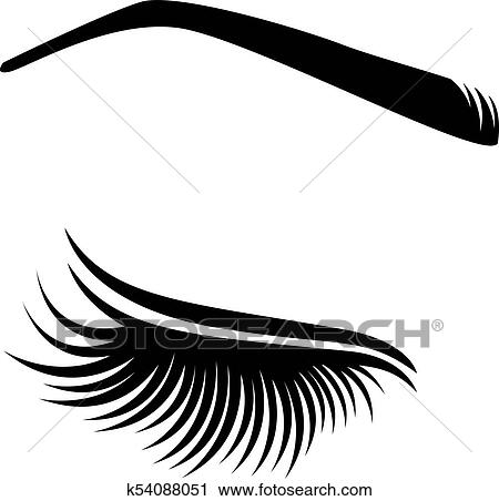 cec9065c7bf Vector illustration of lashes Clipart | k54088051 | Fotosearch