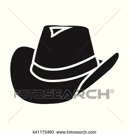 Wlid west symbol stock vector illustration. Clipart. Clipart - Cowboy hat  icon in black style isolated on white background. Wlid west symbol b652ad5ee3af