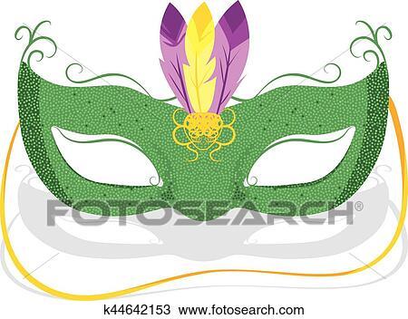 Clipart Fasching Maske K44642153 Suche Clip Art Illustration