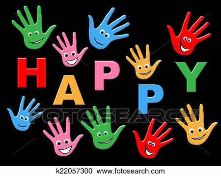 Stock Illustrations Of Joy Happy Represents Children Youngsters And