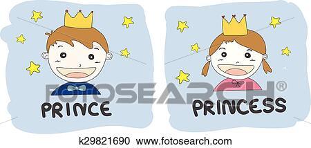 Karikatur Prinz Und Prinzessin Clipart K29821690