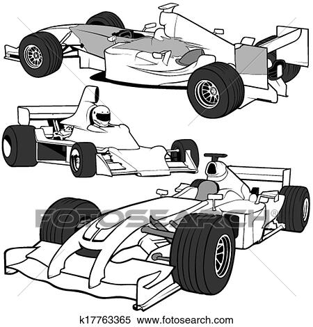 Clipart Of Racing Cars K17763365