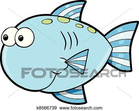clip art of silly cute fish ocean vector k8566739 search clipart rh fotosearch com red fish vector art fish artwork vector