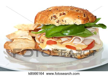 Stock Photo Of Smoked Turkey Sandwich K8566164 Search Stock Images