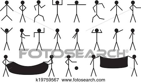 stock illustration of stick people k19759567 search eps clipart