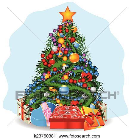 Clipart Weihnachtsbaum K23760381 Suche Clip Art Illustration