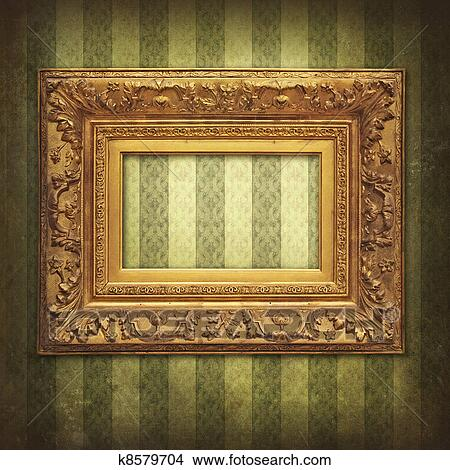 Drawings of Empty baroque golden frame k8579704 - Search Clip Art ...