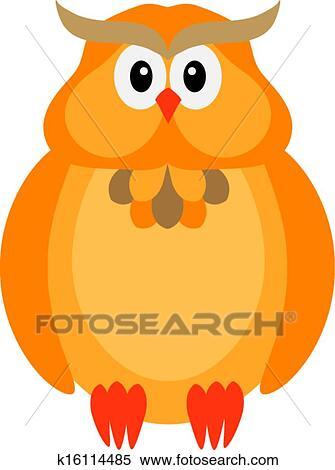 Halloween Couleur Chute Hibou Illustration Clipart K16114485