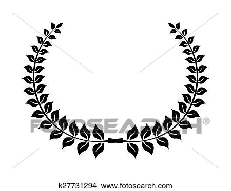 clipart of laurel wreath vector icon k27731294 search clip art rh fotosearch com christmas laurel wreath clipart white laurel wreath clipart